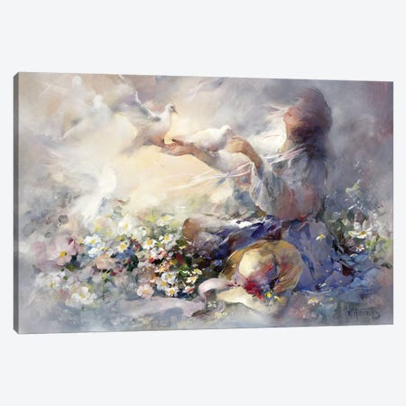 Romantic Reflections Canvas Print #HAE214} by Willem Haenraets Canvas Art