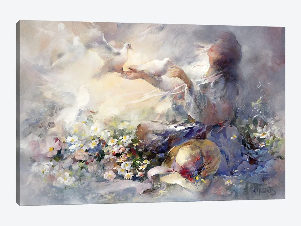 Romantic Reflections by Willem Haenraets 1-piece Canvas Art Print