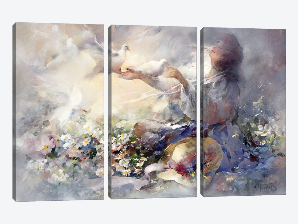 Romantic Reflections by Willem Haenraets 3-piece Art Print