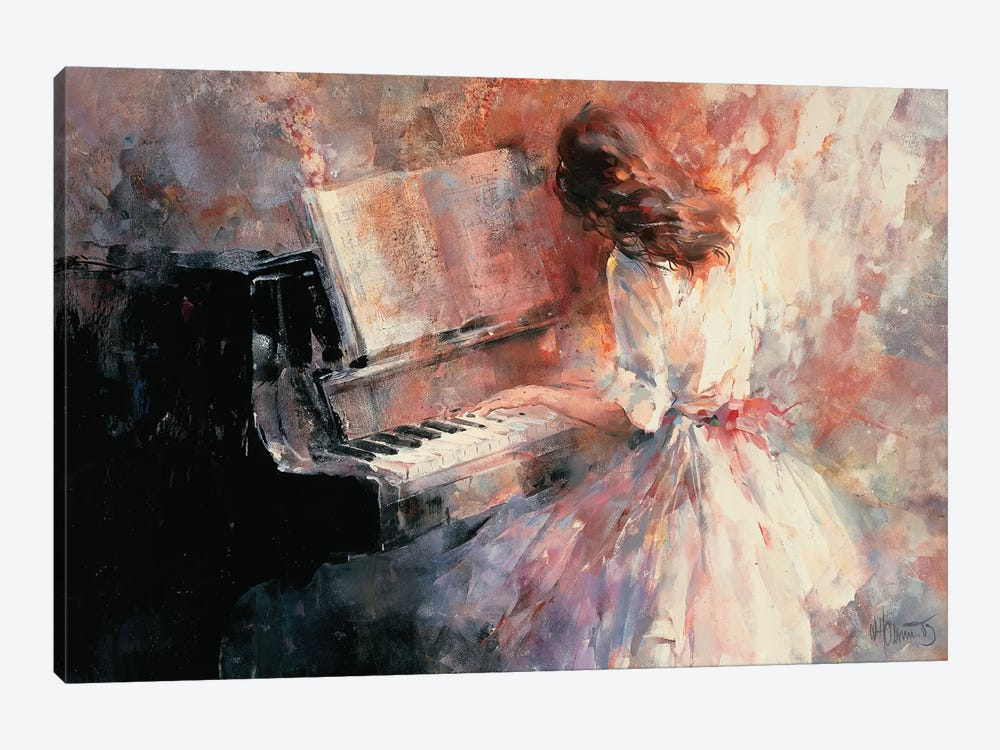 Romantic Rhythm by Willem Haenraets 1-piece Canvas Wall Art