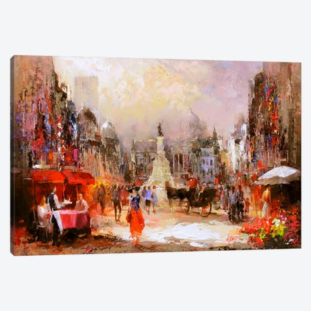 Café Rouge V Canvas Print #HAE21} by Willem Haenraets Canvas Artwork