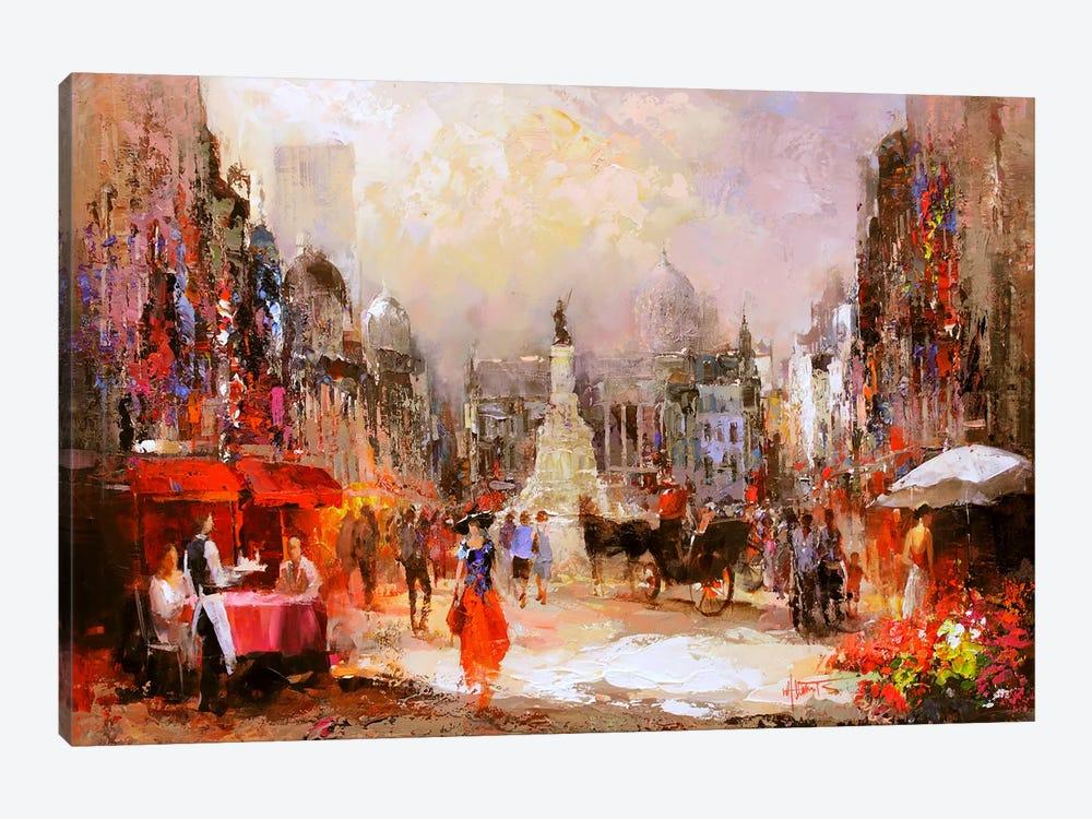 Café Rouge V by Willem Haenraets 1-piece Canvas Art Print