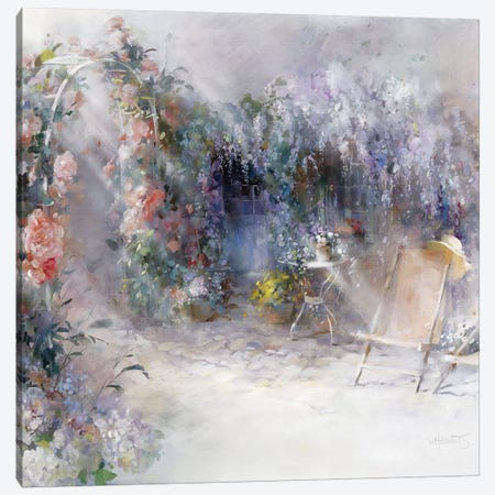 Roses And Lilacs Canvas Print #HAE221} by Willem Haenraets Canvas Artwork