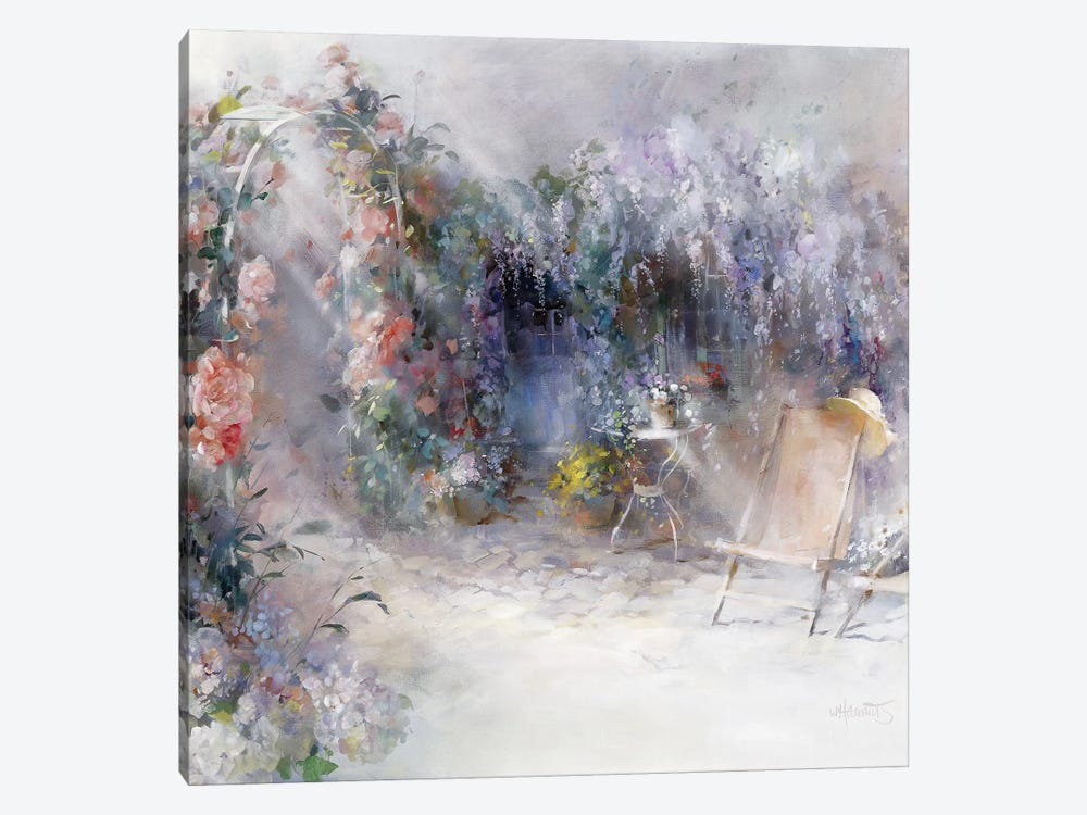Roses And Lilacs by Willem Haenraets 1-piece Art Print