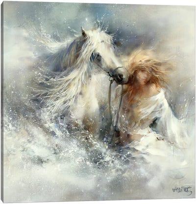 Scene In Water Canvas Art Print