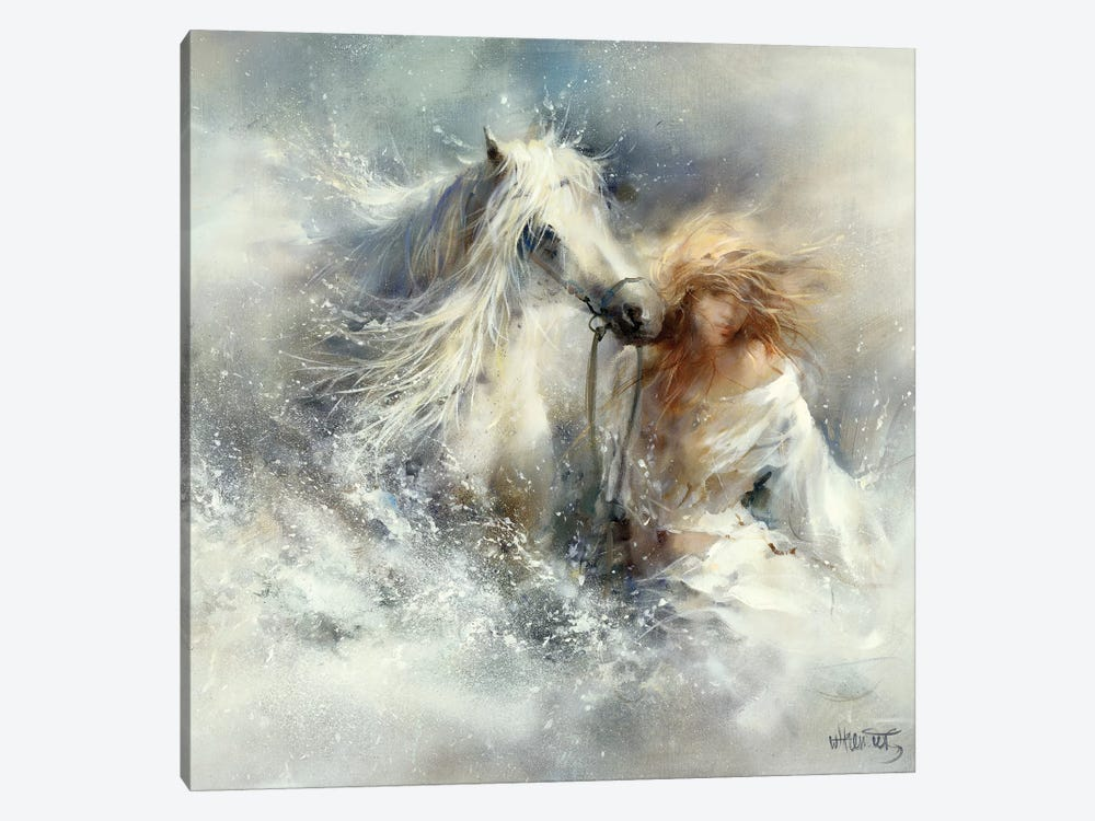 Scene In Water by Willem Haenraets 1-piece Canvas Wall Art