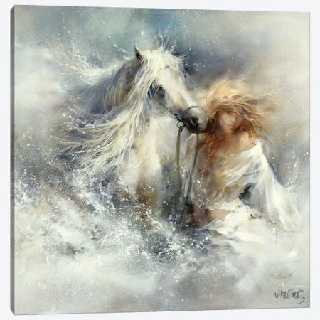 Scene In Water Canvas Print #HAE222} by Willem Haenraets Canvas Art