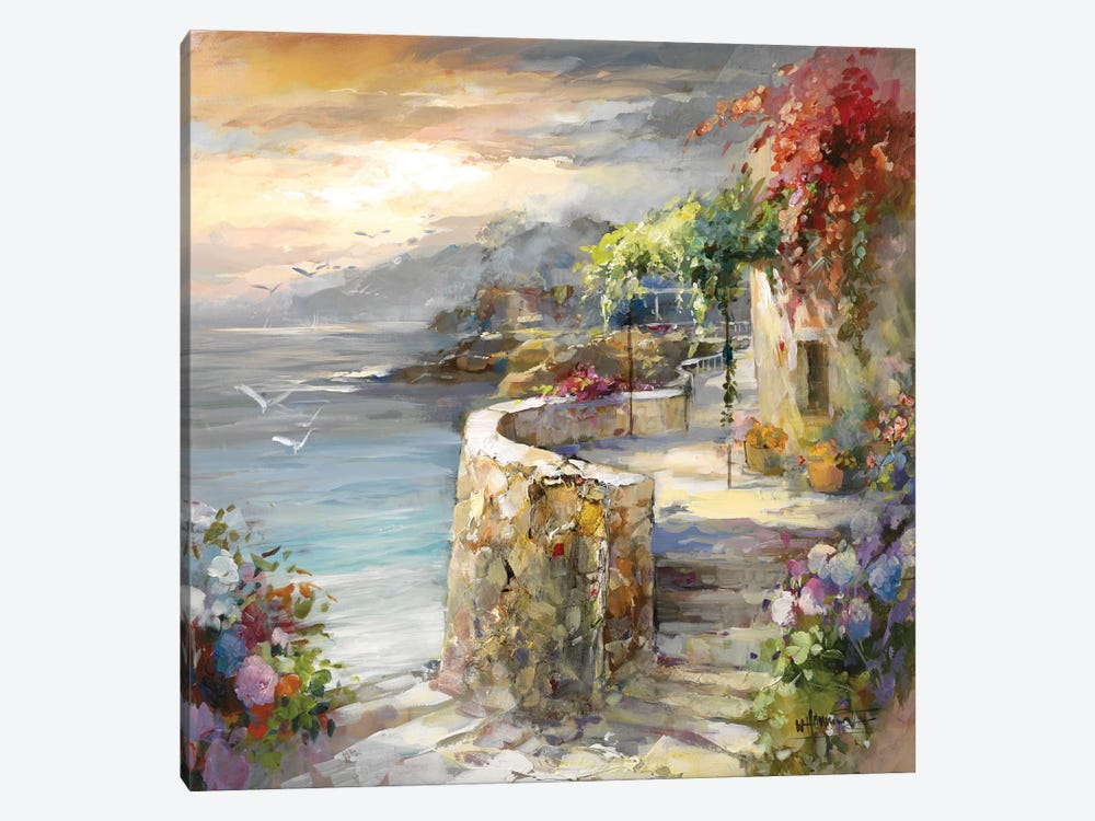 Seagulls And Sunset by Willem Haenraets 1-piece Art Print