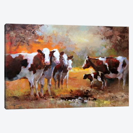 Calf 3-Piece Canvas #HAE22} by Willem Haenraets Canvas Wall Art