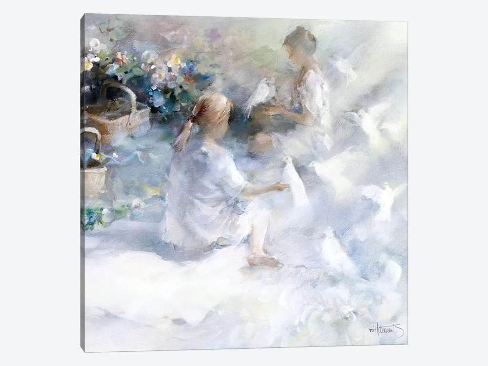 Sisters by Willem Haenraets 1-piece Canvas Art
