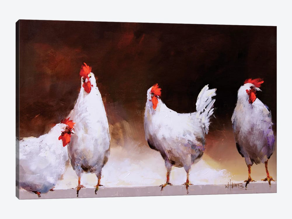 Chicken I by Willem Haenraets 1-piece Canvas Art Print