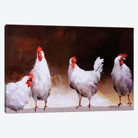 Chicken I Canvas Print #HAE23} by Willem Haenraets Canvas Art