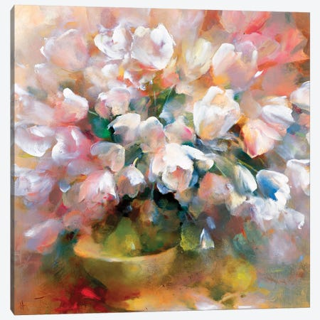 Sparkling White Tulips II Canvas Print #HAE244} by Willem Haenraets Canvas Print