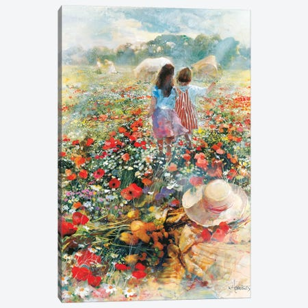 Summer Of Love Canvas Print #HAE252} by Willem Haenraets Canvas Art Print