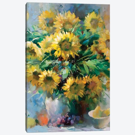 Sunflowers Canvas Print #HAE254} by Willem Haenraets Canvas Wall Art