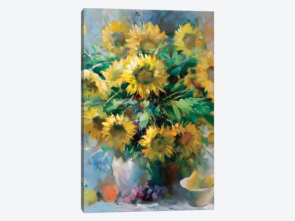 Sunflowers by Willem Haenraets 1-piece Canvas Print