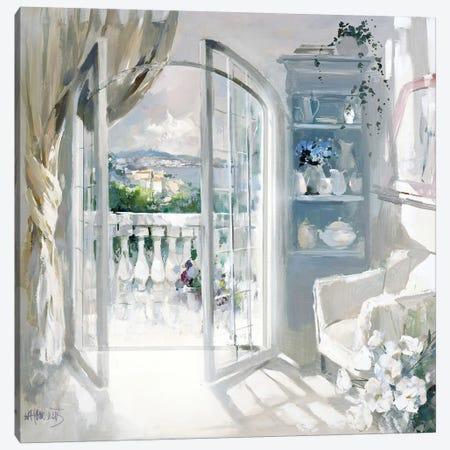 Sunny Room Canvas Print #HAE255} by Willem Haenraets Canvas Art