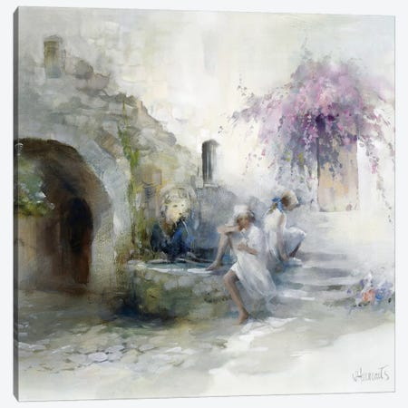 Teenagers Canvas Print #HAE257} by Willem Haenraets Canvas Wall Art