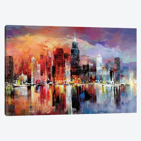 City Scape I Canvas Print #HAE25} by Willem Haenraets Art Print