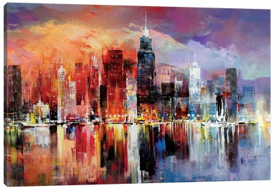 City Scape I Canvas Art Print