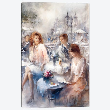 Terrace Canvas Print #HAE260} by Willem Haenraets Canvas Art