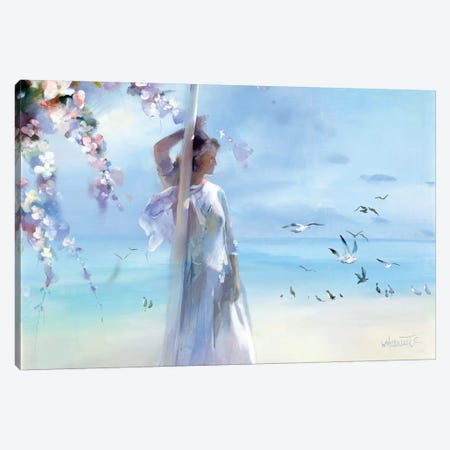 The Beach Canvas Print #HAE261} by Willem Haenraets Canvas Artwork