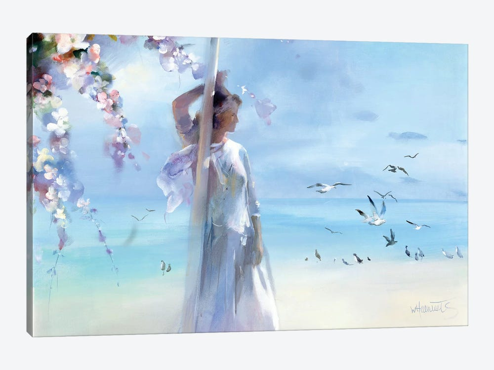 The Beach by Willem Haenraets 1-piece Canvas Art Print
