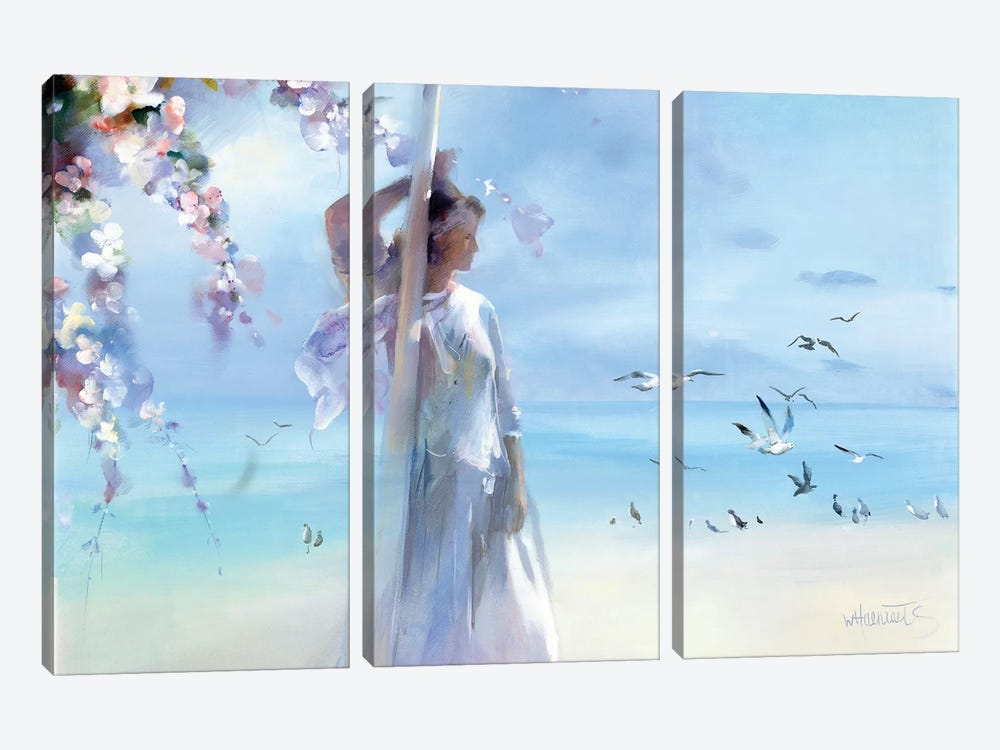 The Beach by Willem Haenraets 3-piece Canvas Art Print
