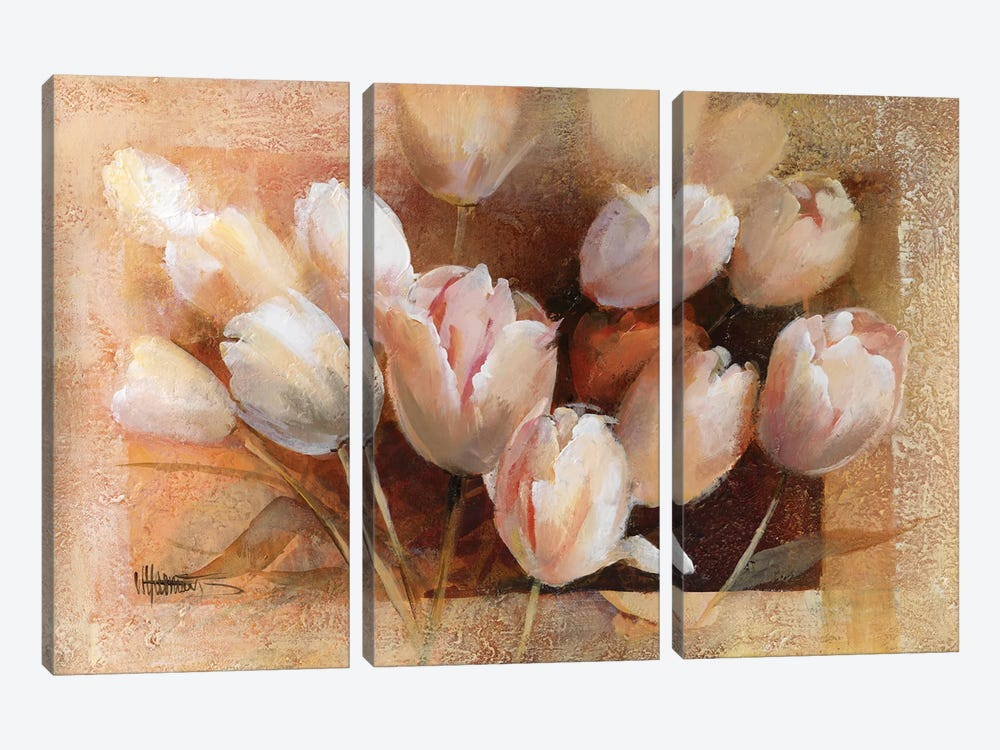 Thea's Tulips For You by Willem Haenraets 3-piece Canvas Wall Art