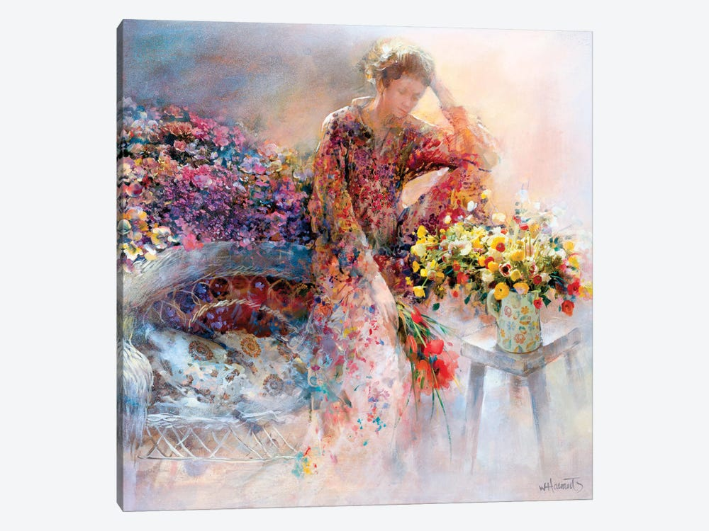 Thinking Of You by Willem Haenraets 1-piece Canvas Print