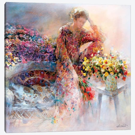 Thinking Of You Canvas Print #HAE263} by Willem Haenraets Canvas Wall Art