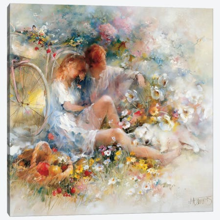 Trip In Spring Canvas Print #HAE267} by Willem Haenraets Canvas Print