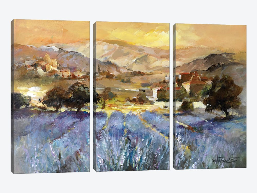 Tuscan Romance I by Willem Haenraets 3-piece Canvas Artwork