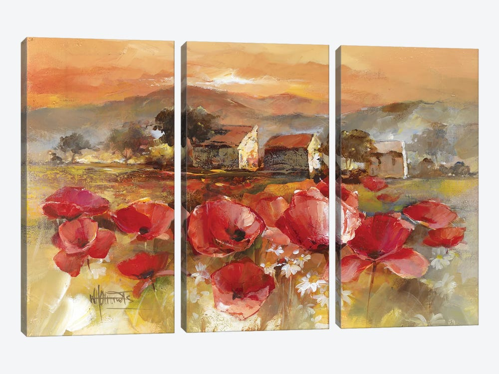 Tuscan Romance II by Willem Haenraets 3-piece Canvas Art Print