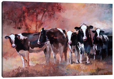 Cows Canvas Art Print