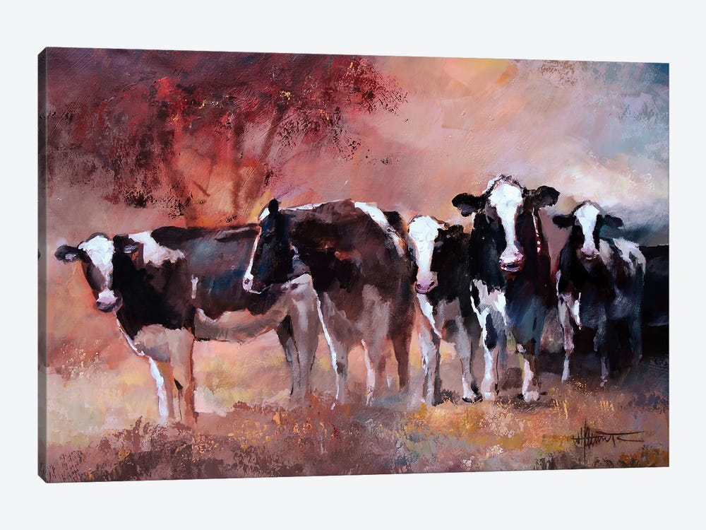 Cows by Willem Haenraets 1-piece Canvas Artwork
