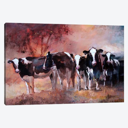 Cows 3-Piece Canvas #HAE26} by Willem Haenraets Canvas Print