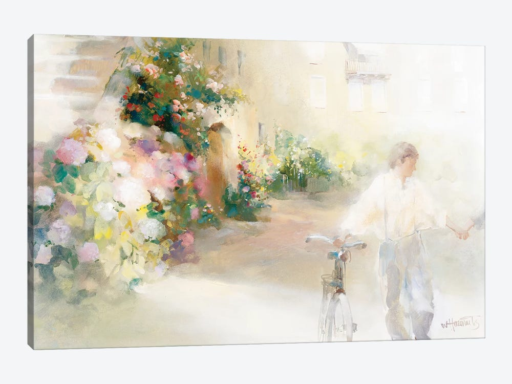 Two Happy People by Willem Haenraets 1-piece Canvas Art Print