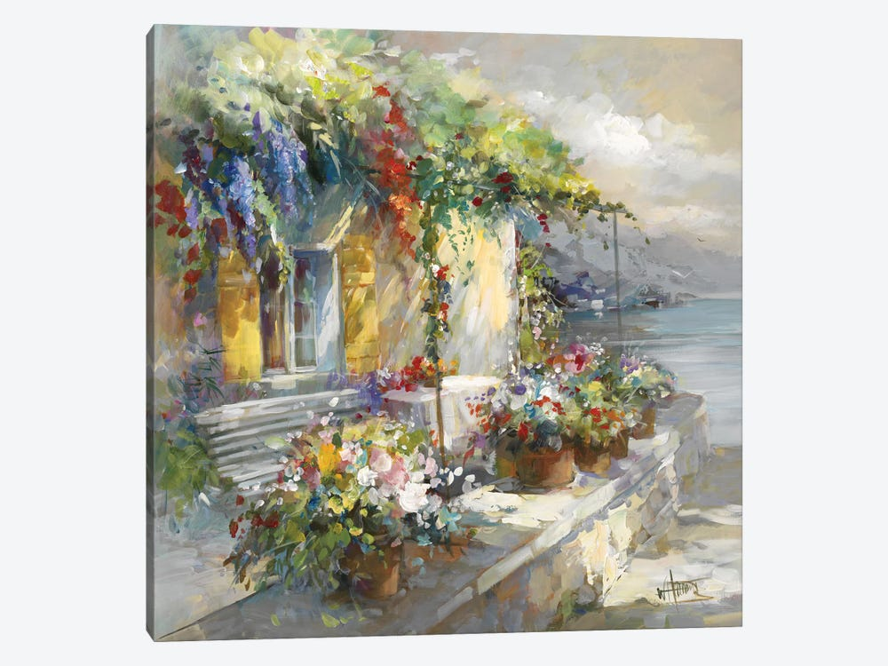 Veranda At Sea by Willem Haenraets 1-piece Canvas Artwork