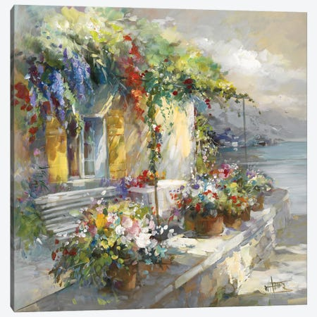 Veranda At Sea Canvas Print #HAE271} by Willem Haenraets Canvas Print