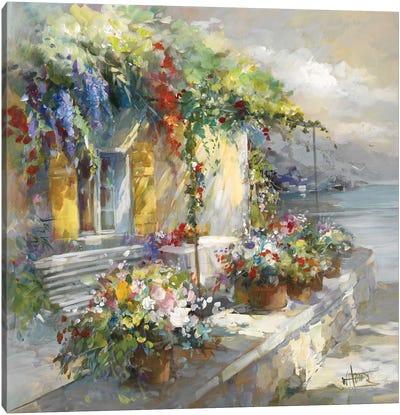 Veranda At Sea Canvas Art Print