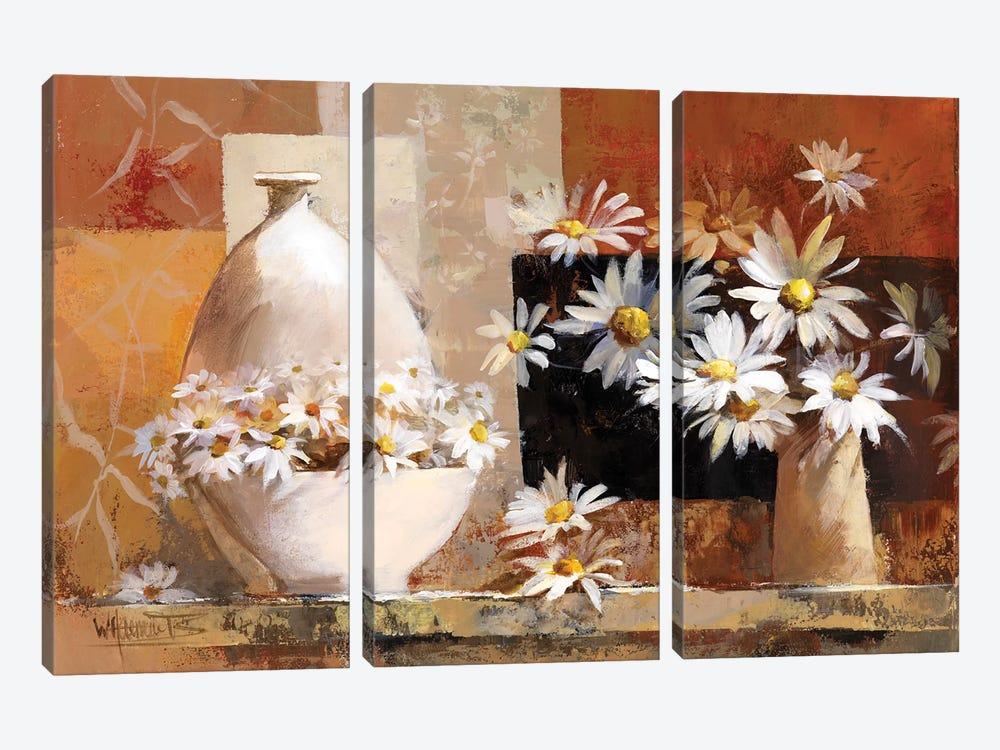 Vintage Flowers II by Willem Haenraets 3-piece Canvas Artwork
