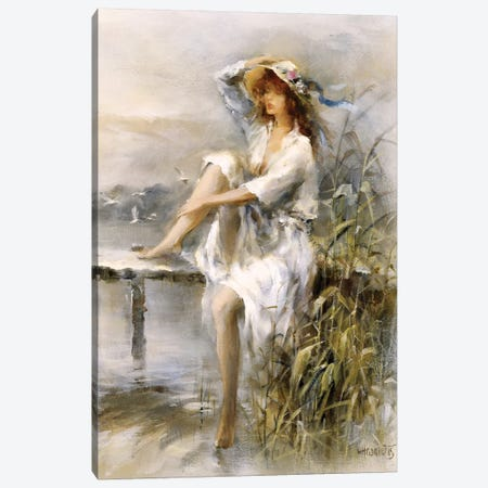 Waterside Canvas Print #HAE274} by Willem Haenraets Canvas Artwork