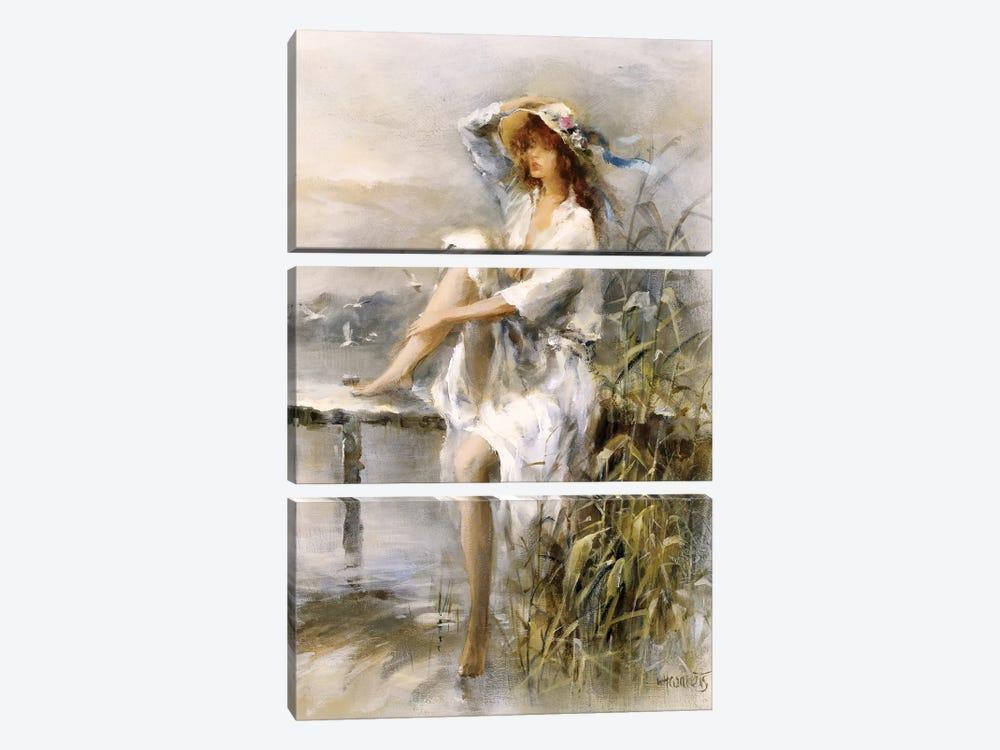 Waterside by Willem Haenraets 3-piece Canvas Art Print