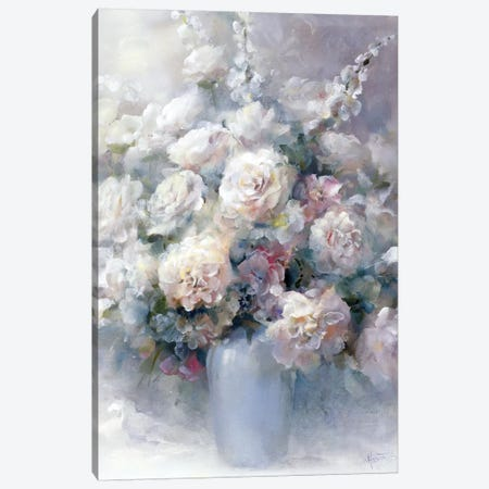 White Bouquet Canvas Print #HAE276} by Willem Haenraets Canvas Wall Art