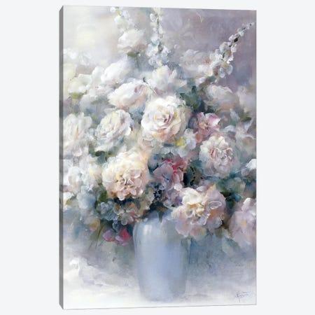 White Bouquet Canvas Print #HAE276} by Willem Haenraets Canvas Wall Art