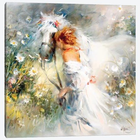 White Dream Canvas Print #HAE277} by Willem Haenraets Canvas Art