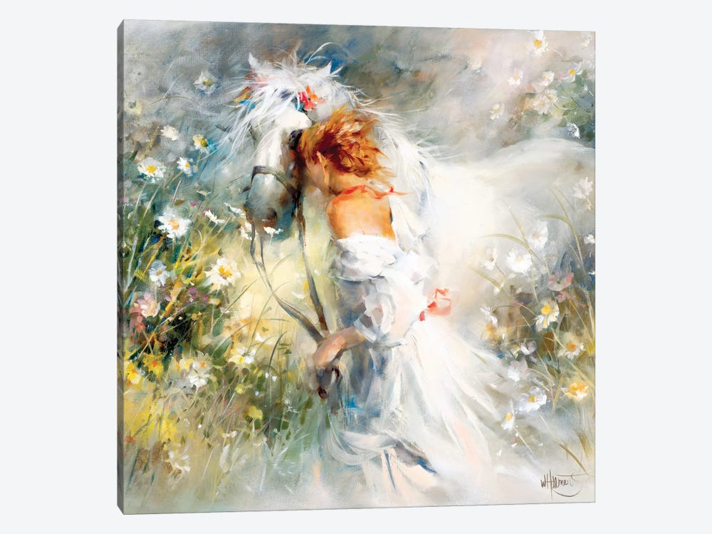 White Dream by Willem Haenraets 1-piece Canvas Wall Art