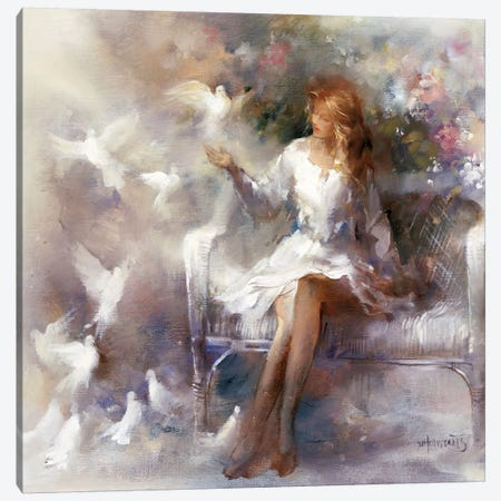 White Dreams Canvas Print #HAE278} by Willem Haenraets Art Print