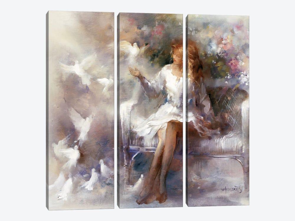 White Dreams by Willem Haenraets 3-piece Canvas Print